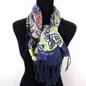 Johnny Was Morocan Blues Silk Scarf